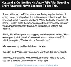 Husband Is Confronting His Angry Wife After Spending Entire Paycheck. Never Expected To See This.