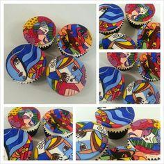 handpainted Neo Pop art cupcakes