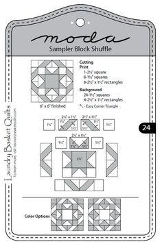 Moda Sampler Block Shuffle - Block 24