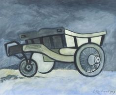 Artwork by Léon Spilliaert, Le tombereau - The tip-cart, Made of Watercolour, gouache, India ink and brush on paper