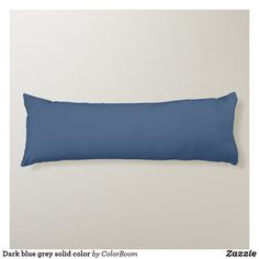 Dark blue grey solid color body pillow Navy Blue Cushions, Navy Blue Throw Pillows, Navy Blue Bedrooms, Blue Living Room Decor, Dark Blue Grey, Blue Bodies, Personalized Pillows, Color Of The Year, Decorative Cushions