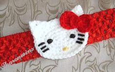 crochet hello kitty headband