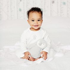 Unisex Penguin Motif Sleepsuit | The White Company
