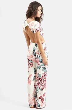 I hate myself a little for loving their line...KENDALL + KYLIE at Topshop Floral Print Jumpsuit | Nordstrom
