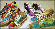 Vans Custom Culture Shoes design Contest for High School art students. i want our school to do something like this. Art Van, High School Art, Art Programs, Custom Vans, Art Classroom, Classroom Ideas, Shoe Art, Art Lesson Plans, Recycled Art