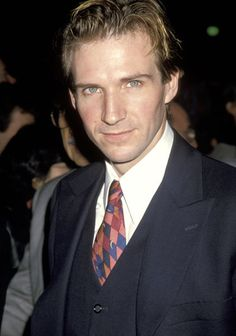 "Ralph Fiennes at the premiere of ""Schindler's List"" in 1993."