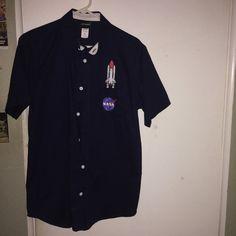 671c9f98f Fifth Sun brand NASA navy blue collared shirt with Apollo of - Depop  Apollo, Nasa