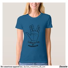 T-shirt femme Bio american apparel Longue vie bleu T Shirts With Sayings, American Apparel, Geek Stuff, Tops, Women, Fashion, Color, Woman, Geek Things