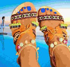 innovative greek sandals - Amphitriti 1 - flat sandal