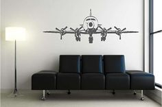 "60"" x 21.5"" four engine airplane vinyl wall decal $30"
