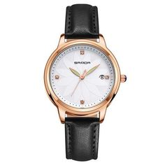 SANDA Elegant Quartz Watch Women Flower Modeling Ladies Watches Leather Strap Calendar Fashion Woman Clock relojes mujer 2018 From Touchy Style Outfit Accessories ( Pink ) Cheap Watches For Men, Luxury Watches For Men, Apple Watch Fashion, Sport Watches, Ladies Watches, Wrist Watches, Rose Gold Watches, Black Watches, Simple Jewelry