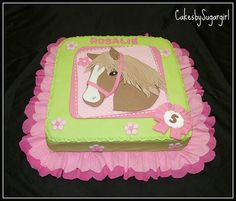 Emmy wants a horse cake for her birthday next month....hmmmm