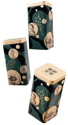 Inventive sea creatures floating around in gold Packaging Snack, Cool Packaging, Food Packaging Design, Packaging Design Inspiration, Brand Packaging, Japanese Packaging, Graphic Design Fonts, Tea Design, Japanese Design