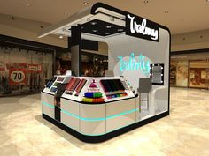 Ideas de #Tienda, estilo #Moderno color  #Turquesa,  #Blanco,  #Negro, diseñado por F