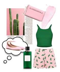 """""""Cactus"""" by renicherie on Polyvore featuring Valentino, American Retro, Gianvito Rossi, women's clothing, women, female, woman, misses and juniors"""