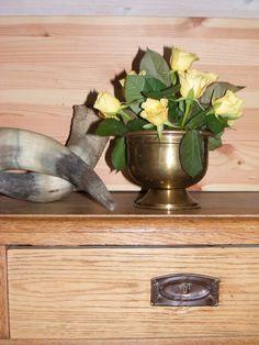 """Vintage copper rose bowl / Brocante koperen rozen bowl """"de tijd van toen"""""""