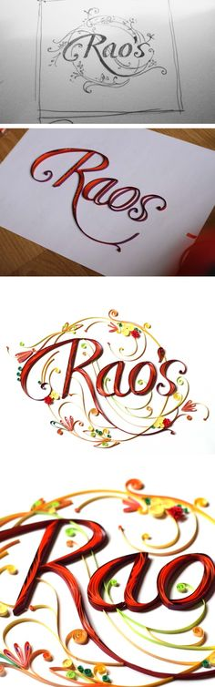 Quilled Name Plate ~ Rao by Neha Karnik, via Behance