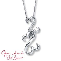 From the open hearts waves by jane seymour collection this from the open hearts waves by jane seymour collection this necklace features lovely round blue and white diamond womens fashion that i love etc aloadofball Images