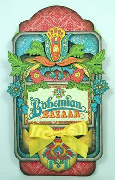 Love this Bohemian Bazaar tag by Andrew Roberts using the Large Tag Album Staples #graphic45 #tags