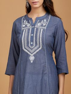 Trendy Ideas For Fashion Style Work Casual Purses Trendy Fashion, Vintage Fashion, Fashion Outfits, Trendy Dresses, Casual Dresses, Plus Sise, Kurta Patterns, Kurti Neck Designs, Embroidery Suits