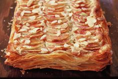 Artfully decorated with slices of apple, this French apple tart looks impressive and tastes delicious.