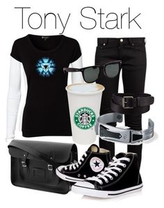 """""""Tony Stark"""" by elliequestrienne ❤ liked on Polyvore featuring Yves Saint Laurent, By Malene Birger, The Cambridge Satchel Company, Pure Lime, Reactor, Converse and Uniqlo"""