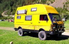 Quand on voudra vraiment faire du hors piste!  4x4 Camper Vans - The Toughest Camper Van Conversions Around