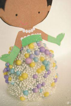 Pearl princess cake pop