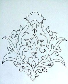 carpet design in black and white carpet design. Black and White Negro Stencil Patterns, Stencil Designs, Pattern Art, Islamic Art Pattern, Arabic Pattern, Embroidery Flowers Pattern, Hand Embroidery Designs, Persian Motifs, Indian Art Paintings