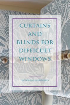 French windows, bow windows, a row of windows, small windows with deep recess & more - get ideas & inspiration for dressing awkward window shapes and sizes #trickywindows #difficultwindows #curtains #romanblinds