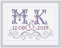 Thrilling Designing Your Own Cross Stitch Embroidery Patterns Ideas. Exhilarating Designing Your Own Cross Stitch Embroidery Patterns Ideas. Monogram Cross Stitch, Beaded Cross Stitch, Cross Stitch Rose, Cross Stitch Alphabet, Cross Stitch Embroidery, Embroidery Patterns, Hand Embroidery, Wedding Cross Stitch Patterns, Cross Stitch Borders