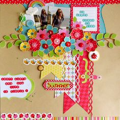 Summer Floral Collage Layout by Ro Philippsen