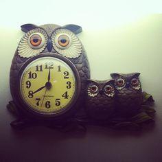 vintage owl clock #kitsch
