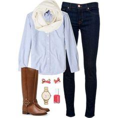 Shirt and botos casual