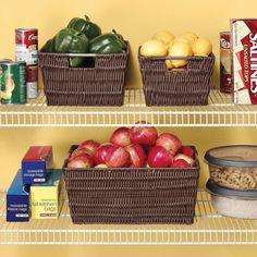 Storage Basket Set 3 Baskets Organizer Bin Box Tote Home Closet Container Cloth #Whitmor