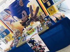 Sonic the Hedgehog Birthday Party Ideas Sonic Birthday Parties, Sonic Party, Boy Birthday, Sonic Cake, Despicable Me Party, Hedgehog Birthday, Holidays And Events, Sonic The Hedgehog, Party Ideas