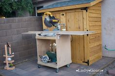 Ana White | Miter Saw Cart - DIY Projects