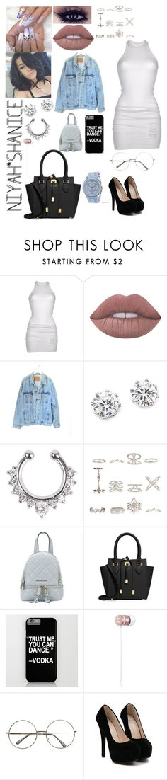"""""""Colourfully exposed"""" by adavies1115 ❤ liked on Polyvore featuring DRKSHDW, Lime Crime, Levi's, Kenneth Jay Lane, New Look, MICHAEL Michael Kors, Michael Kors, Beats by Dr. Dre and Geneva"""