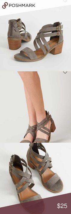 Solely black by bke Mid heeled sandals from buckle bke brand . Worn lightly only twice . Great shape BKE Shoes Sandals
