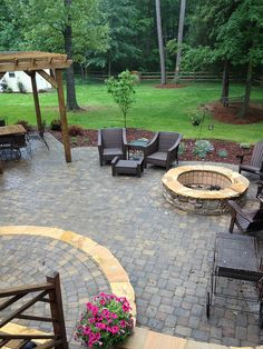Monroe patio & fire pit by Fine Edge Landscape Design, via Flickr