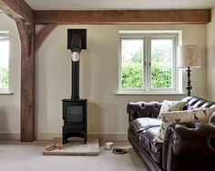 Berkshire Barn - Border Oak - oak framed houses, oak framed garages and structures. Whole House Ventilation, Border Oak, Oak Framed Buildings, Oak Front Door, Family Room, Home And Family, Oak Frame House, Oak Doors, Door Furniture