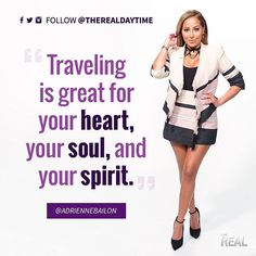 Why you should be jet-setting this summer, according to Adrienne Bailon. The Real Talk Show, Adrienne Bailon, Real Quotes, Jet Set, Instagram Posts, Summer, Summer Time, Verano