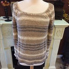 Free people crochet sweater In great condition Free People Sweaters Crew & Scoop Necks