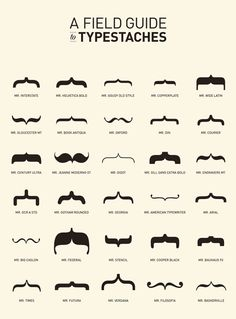 Type moustaches