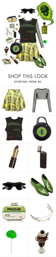 """Toxic Places"" by vulture95 ❤ liked on Polyvore featuring WithChic, Motel, Kreepsville 666, Universal, Sarah's Bag, Rodarte and Handle"