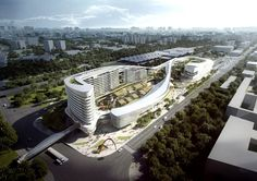 Aedas Wins Competition for Dragon/Phoenix-Inspired Transportation Hub in Sanya, China | ArchDaily