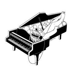 Turn on the music, Turn off your mind Art Print by Henn Kim