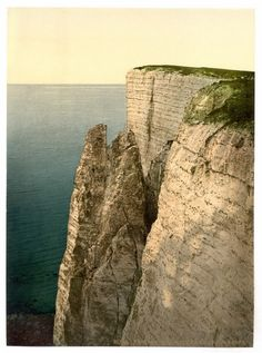 new to site Eastbourne, Beachy Head from above, England