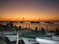 Rio Lagartos Sunset. Yucatan, Gulf of Mexico