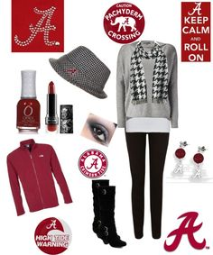 "Bama Roll Tide ""gameday  outfit!!!!!"" by kristie-kevin-hammond on Polyvore"